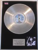 SUZI QUATRO - Vinyl LP Platinum Disc - YOU'RE MAMMA WON'T LIKE ME